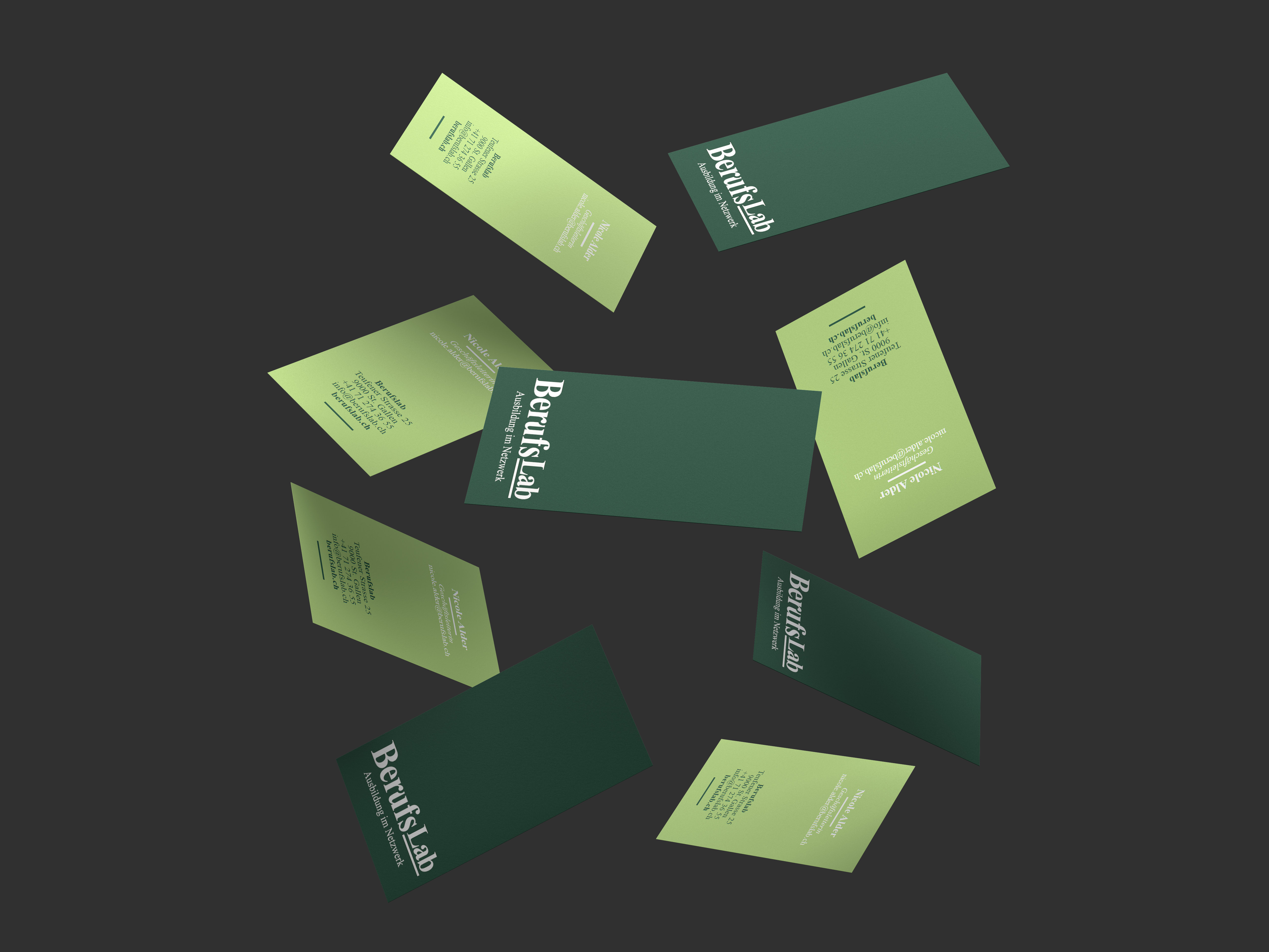 Floating Business Cards Mockup by Anthony Boyd Graphics