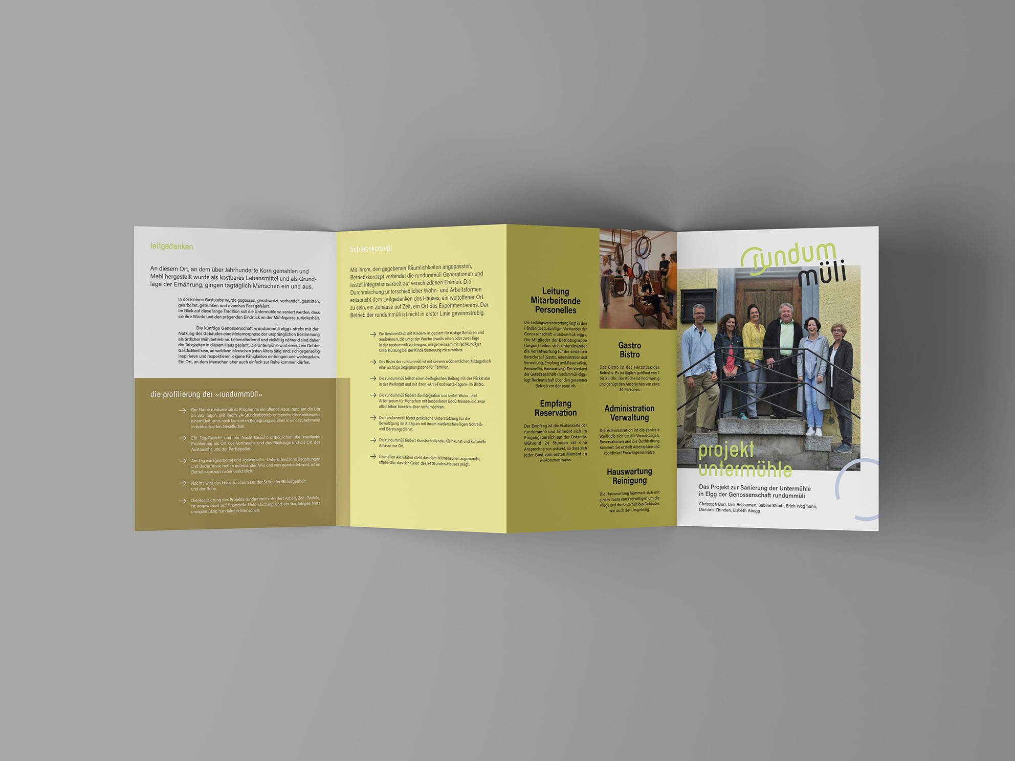 Kommunikationsagentur – Flyerdesign – Gasser Miesch St. Gallen