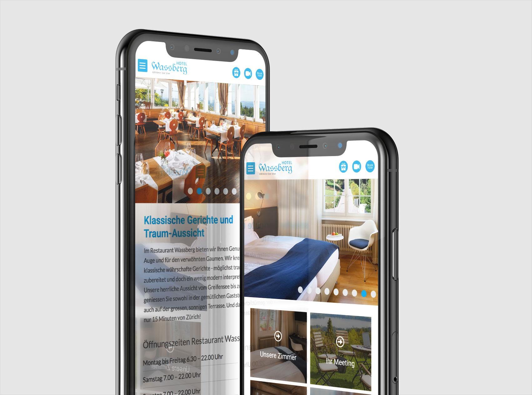 hotel-wassberg-webseite-webdesign-Gasser Miesch-St.Gallen-Webagentur