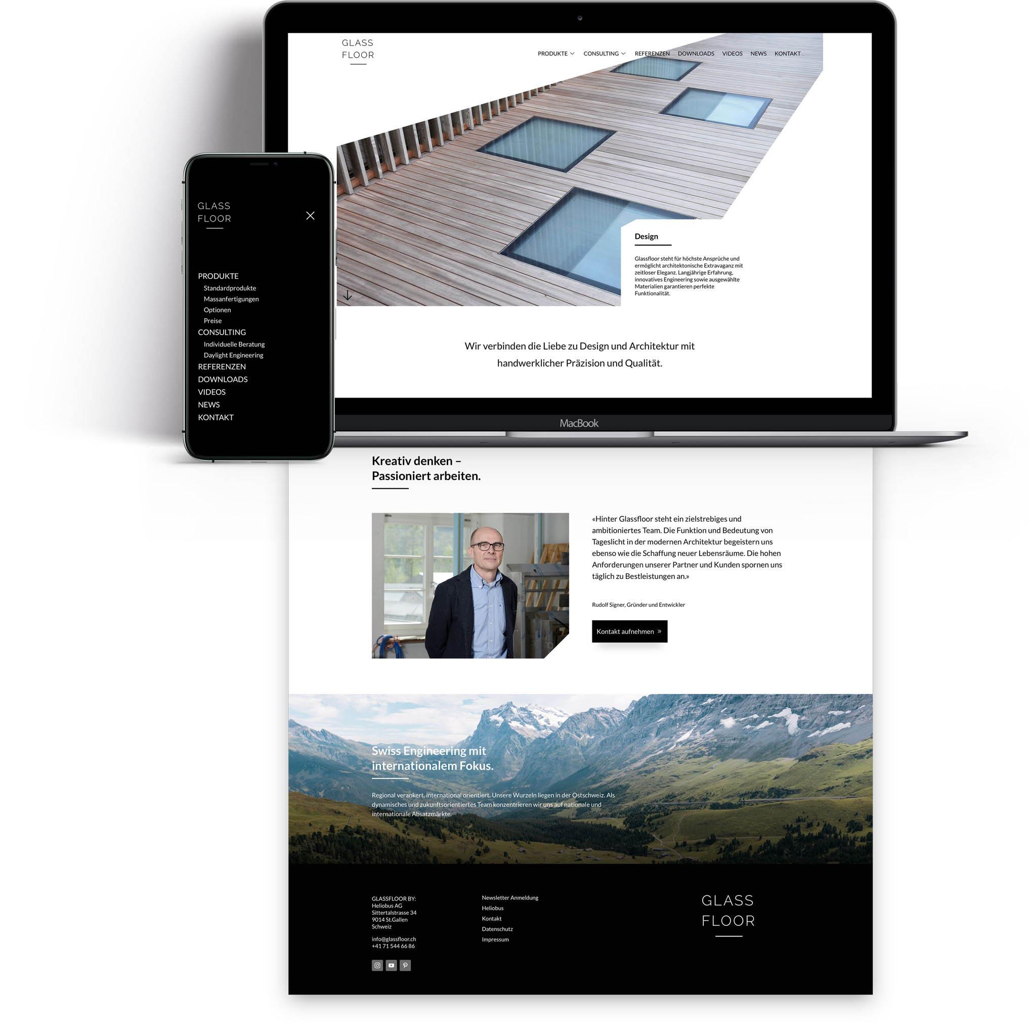 Glassfloor_WebsiteGlassfloor-Gasser-Miesch-Digitalagentur-Stgallen